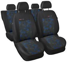 Car seat covers full set fit Toyota Yaris charcoal/blue