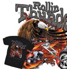 Unifarbene Herren-T-Shirts mit Biker in Größe XL