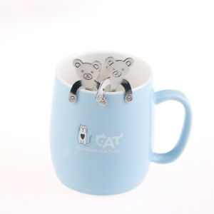 stainless steel coffee tea bear spoon hanging cups tableware kitchen suppl.Z2