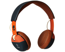 Skullcandy Grind On-Ear Headphones with Built-In Mic,Orange and Navy