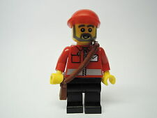Lego Figur City Postbote  Briefträger Postjacke Umhängetasche post008  Set 7687