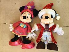 "More details for disney 20th anniversary christmas prestige 2012 mickey + minnie 20"" plushy rare"