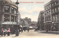 POSTCARD   DORSET  BOURNEMOUTH  Old  Christchurch  Road  Beale's  Store