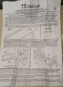 Child Craft Bedrail for Abbott, Camden, Kelsey Matte White