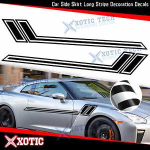 JDM Gloss Black Car Side Skirt Fender Hash Sticker For Nissan 370Z Altima GTR
