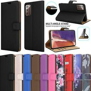 For Samsung Galaxy S20 FE 5G A21S A41 A51 A71 Leather Cover Wallet Case + Glass