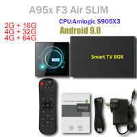 Smart TV Box Android 9.0 A95X F3 Slim Amlogic S905X3 Media Player 4G 64G 4K HD