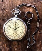 Invar Taschenuhr Chronograph Maurice Wolf