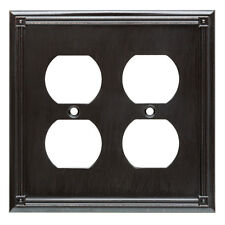 167795 Ruston Venetian Bronze Double Duplex Outlet Cover Plate