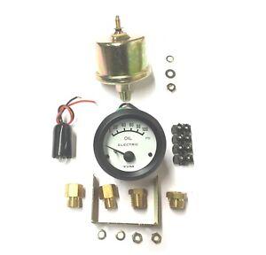 Tim 52mm 12V Electric Oil Press Pressure Gauge KIT + Various Fittings (700031)