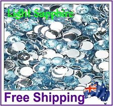 Rhinestones Resin FB 4mm ~ Lt Sapphire ~ 500 Pack By Gypsy Bling ~ Free Post