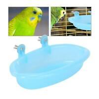 Parrot Bathtub Pet Cage Accessories Bird Budgie Bath Shower Box Cage