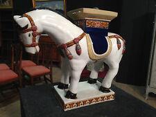 Scultura di cavallino in ceramica dipinta orientale stile antico 900 XX oggetto
