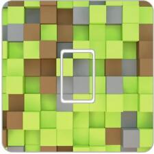 Minecraft Blocks Gaming Light Switch Vinyl Decal Skin Bedroom Living Room LI10