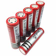 Batería 6 un. 18650 6800mAh 3.7V Recargable Li-Ion tapa plana para Linterna Led