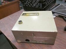 GE Enclosed Starter w/ CT CR206C100EAA 27A 600V Size 1 Used