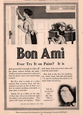 1913 AD  BON AMI CLEANSER MOTHER DAUGHTER CLEANING HOUSE