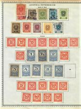 Austria Stamp Collection On Album Pages Mixed Condition Lot #2