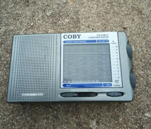 Coby CX-CB12 12 Band World Receiver AM/FM/LW/Shortwave  Tested Works