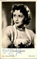 Autogrammkarte Autograph TV handsigniert SONJA ZIEMANN ~1955 Autogramm Original