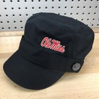 Ole Miss Rebels NCAA College Black NIKE Cadet Military Style Women's Cap NWT Hat