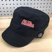 Ole Miss Rebels NCAA College Black NIKE Cadet Military Style Women's Cap NWT Hat
