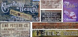 N Scale Ghost Decals Set # 11 Building, Fences, Walls, Buildings