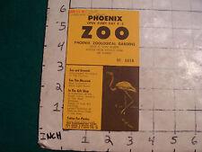 vintage HIGH GRADE travel: PHOENIX ZOO ticker # 6693 from Jun 18 1959 map on bak