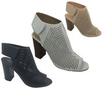 Ladies Shoes Inniu Catwalk Hazard Black Nude or White Caged Heels 5-10 Shoe