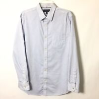 Banana Republic Tailored Slim Fit Mens L Blue Long Sleeve Button Front Shirt