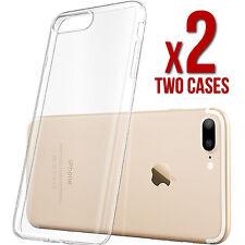 (2) Two iPhone 7 Plus Clear Case Slim Bumper Ultra Thin TPU Rubber Gel