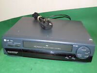LG VCR VHS VIDEO CASSETTE RECORDER Vintage N23I Grey Tested Worn condition