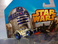 2015 Disney STAR WARS Weathered R2-D2 Bubble Top Hot Rod✰Loose✰Hot Wheels