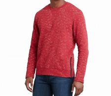 Kenneth Cole Reaction Mens Pullover Crewneck Red Space Dyed Sweat Shirt L $69