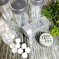 12 Tiny Tubes Vial Herbs Minerals Powder Container Silver Screw on Cap #2810 New