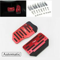Universal Non-Slip Automatic Pedal Brake Foot Treadle Cover Red Car Accessories