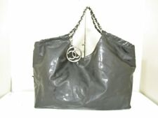 Authentic CHANEL Coco Cabas Black PVC Tote Bag w/Pouch (detachable)