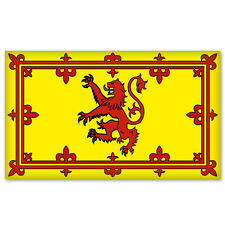 "Scottish Lion Rampant Scotland Flag car sticker 6"" x 4"""