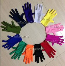 Kid Children Adult Lycra Spandex Zentai Costume Halloween Party Short Gloves