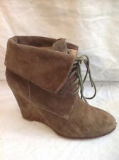 Zara Basic Brown Ankle Suede Boots Size 39