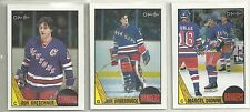 1987-88 O-PEE-CHEE Hockey New York Rangers 11-card Team Set  John Vanbiesbrouk