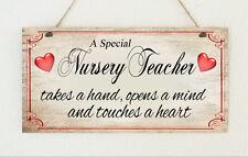 Beautiful Hand Made Nursery Teacher Sign Plaque Gift Present Thank You School