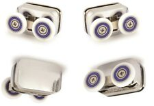 4 x Shower Door rollers - 2 top and 2 bottom - bottom are spring loaded
