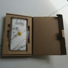 Samsung Galaxy S10 Plus Marble Look Phone Case White/Gold - New