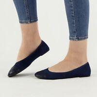 VELVET Ladies Womens Soft Reptile Print Slip On Flat Ballet Pump Shoes Navy Blue