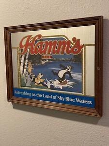 Vintage Hamms Beer Mirror Sign Bear Bar Display Hamm's Land of Sky Blue Waters