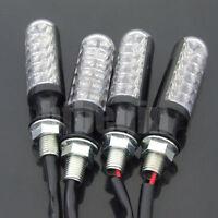 4X Moto plastique Ampoules Signal Lampe Clignotant Feu Indicateur Eclairage Noir