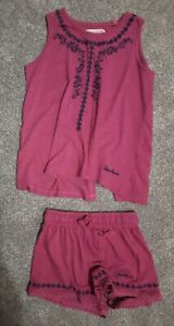 Gorgeous Bright Pink Floaty Top & Shorts by Sketchers age 8-9
