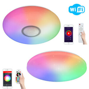 WiFi RGB Smart LED Light Panels for Apps by iOS Android Amazon Alexa Google Home