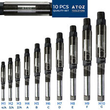 """10 Pieces Adjustable Hand Reamer Set H1 to H10 Capacity 3/8"""" to 15/16"""""""